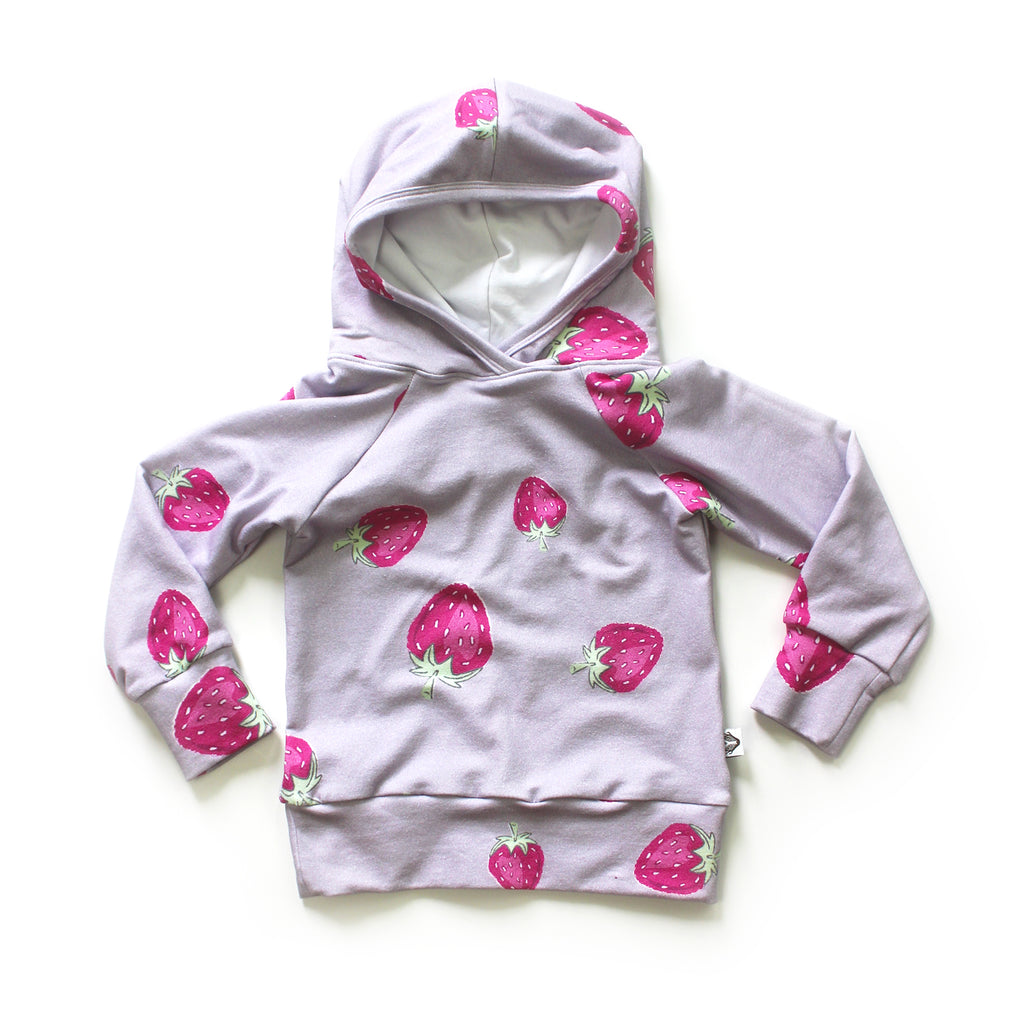Nixi Classic Hoodie; Mauve Strawberries