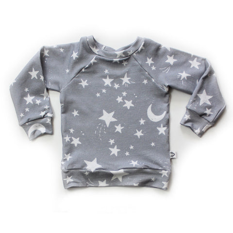 Nixi Classic Pullover; Twinkle Stars on Grey