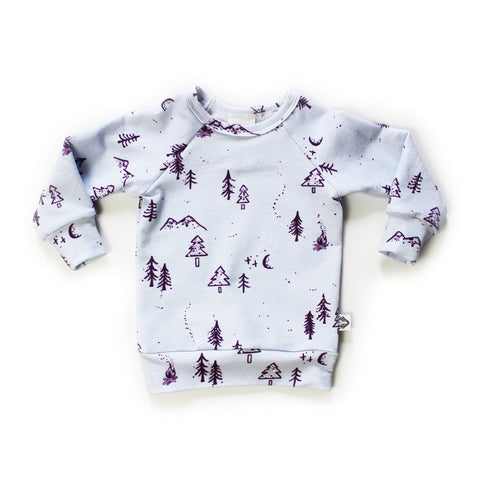Nixi Classic Pullover; Winter Woods, Iced Lilac