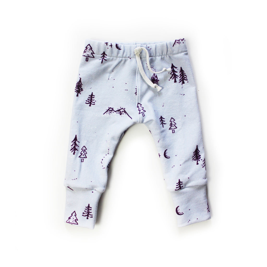 Nixi Lounge Pants: Winter Woods, Iced Lilac (improved fit)