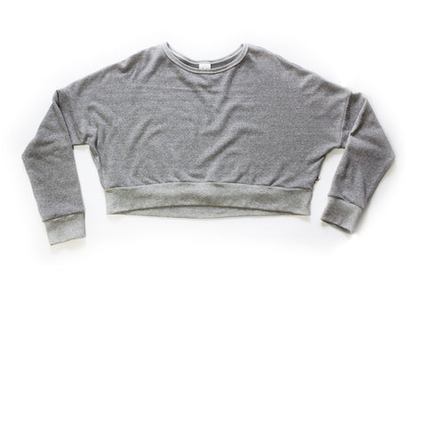 Mama Weekend Crop; Marl Grey