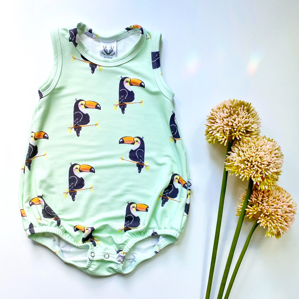 Bubble One Piece Romper; Toucans