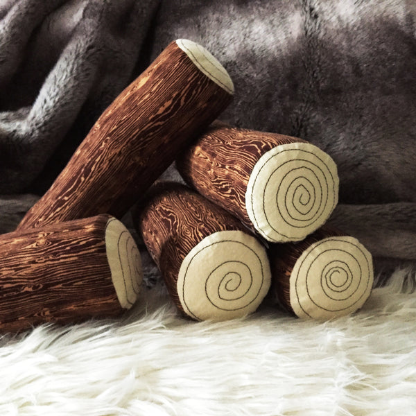 Log Bolster Pillow; Classic Timber