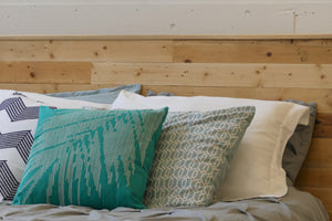 Reclaimed Wood Bed Frame  Headboard Detail Vancouver B.C.