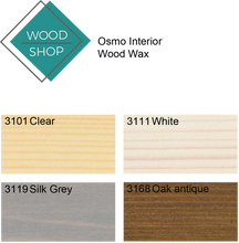 Load image into Gallery viewer, Bed Frame Finishes, Osmo Low VOC Finish. White, Clear, Silk Grey and Oak Antique