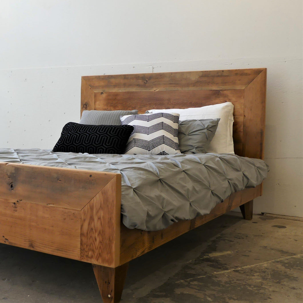 Reclaimed Fir Bed Frame Vancouver B.C. Wood Shop