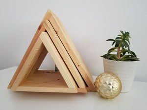 Reclaimed Wood Triangle Shelf Set of 3 Vancouver B.C