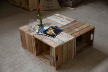 Load image into Gallery viewer, Wooden Crate Table Vancouver B.C. Wood Shop Workers Co-op