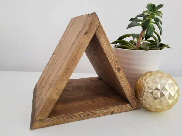 Reclaimed Wood Triangle Shelf Vancouver B.C Osmo Hard Wax Finish Oak Antique