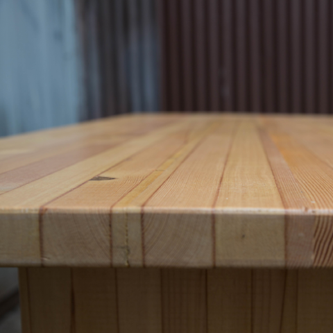 Reclaimed Fir Table Surface Detail
