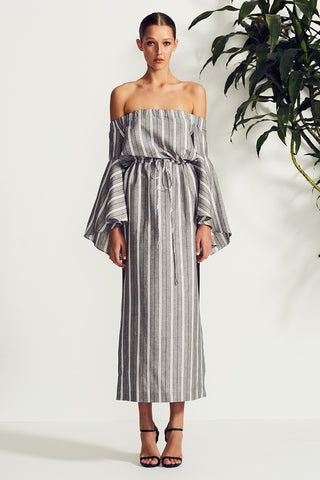 TORTUGA OFF THE SHOULDER MIDI DRESS