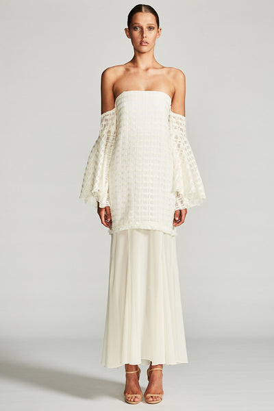 VENUS BUSTIER MAXI DRESS - IVORY