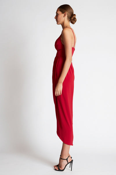 CORE COCKTAIL DRESS - CRIMSON