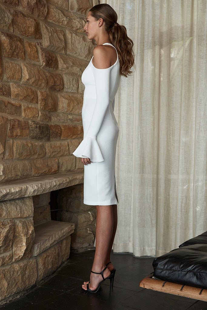 LORI OPEN SHOULDER BODYCON - IVORY
