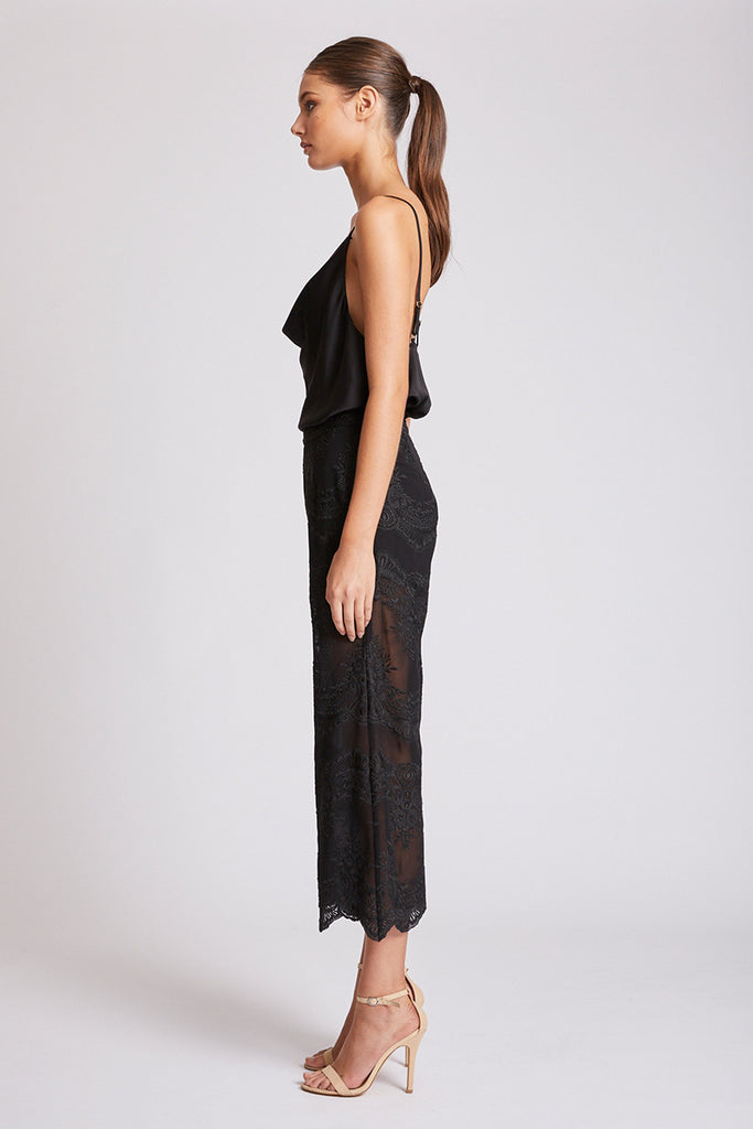 ANTIGUA RELAXED CROPPED FLARE - BLACK