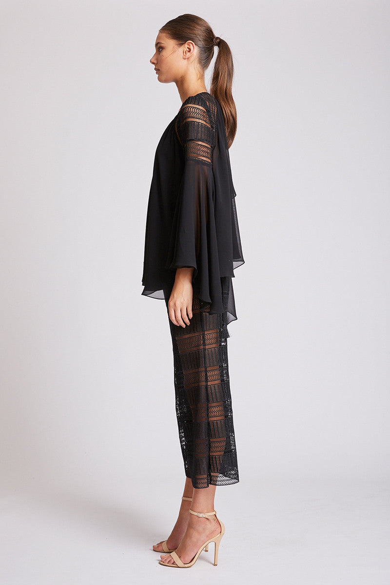 ARUBA RELAXED CROPPED FLARE - BLACK