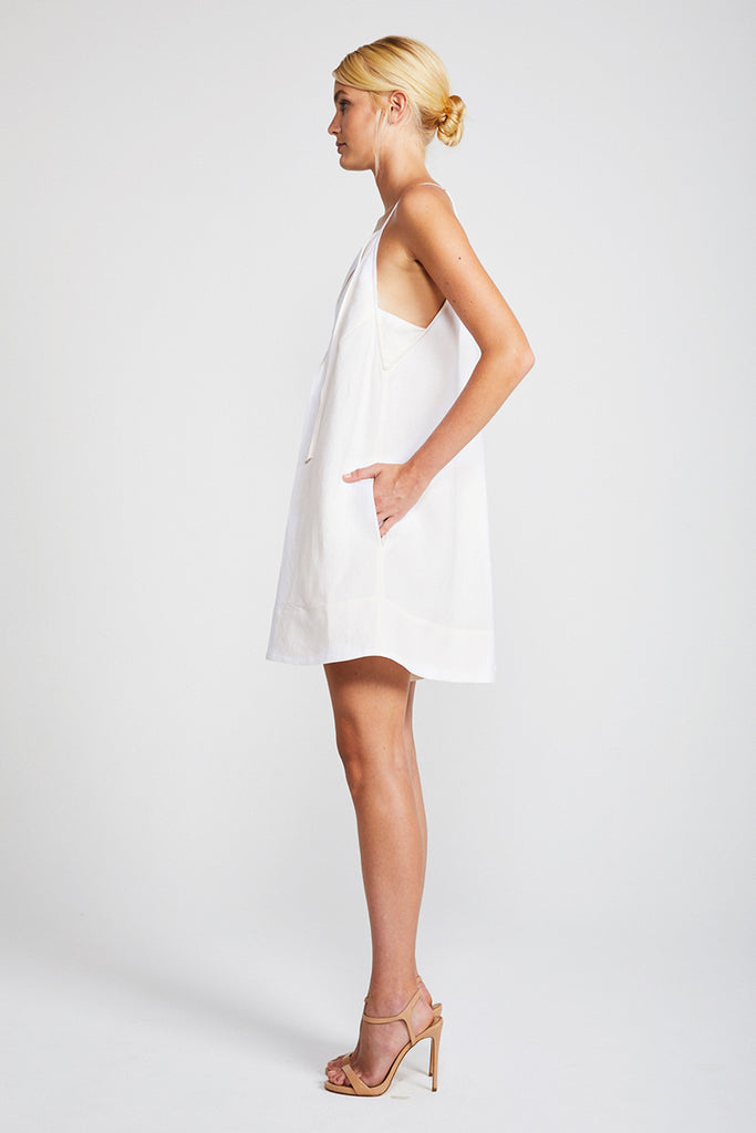 DAWN TRAPEZE MINI ROMPER - CREAM