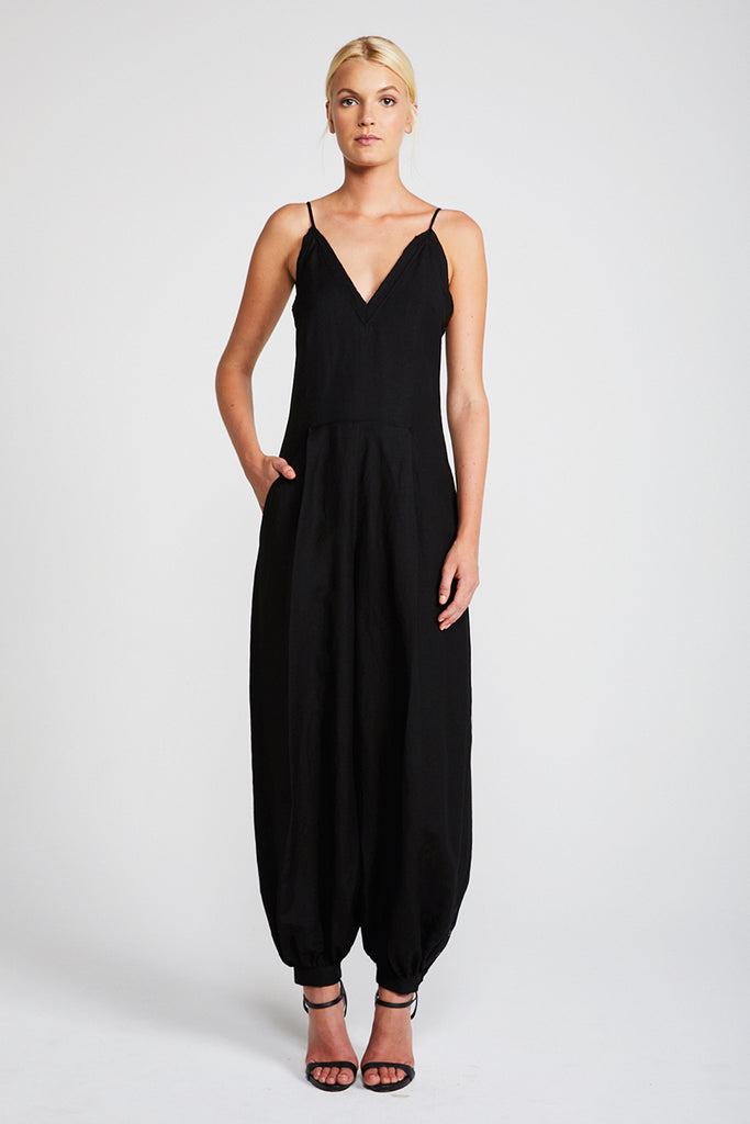 DAWN TAILORED HAREM JUMPSUIT - BLACK