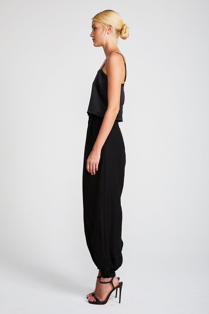 DAWN TAILORED HAREM PANT - BlACK