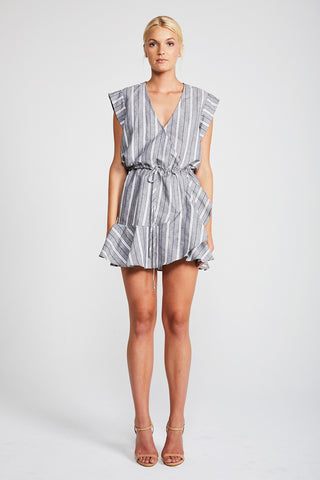 TORTUGA DRAWSTRING MINI DRESS