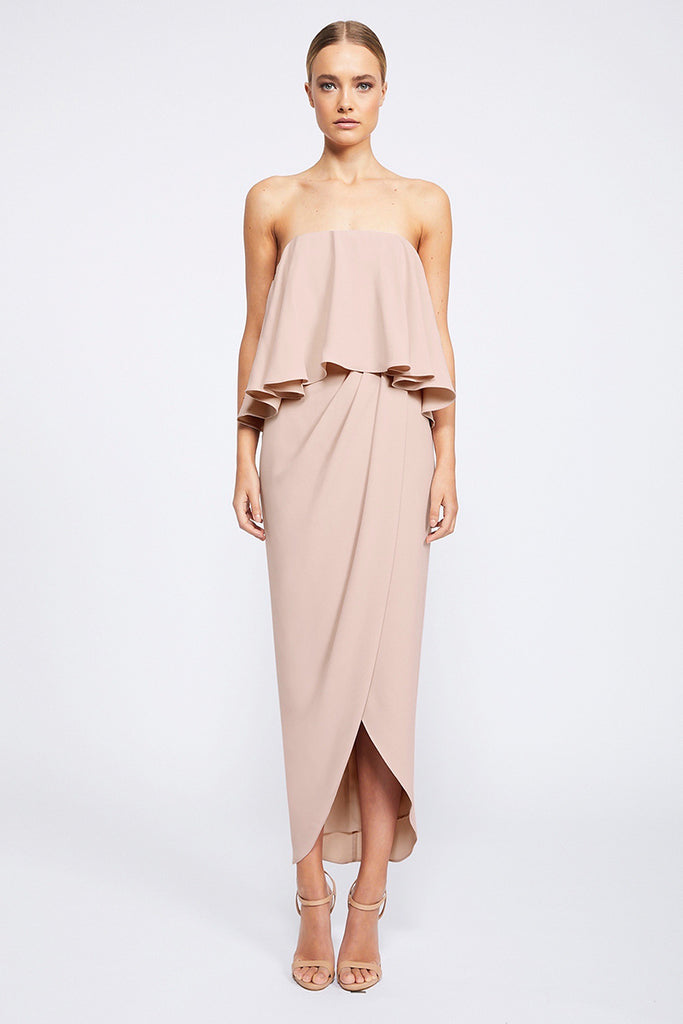 CORE STRAPLESS FRILL DRESS - BALLET