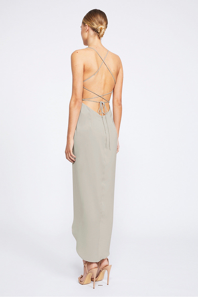 CORE LACE UP COWL MAXI - OYSTER