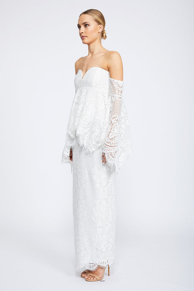 LACE ANGEL MAXI DRESS - IVORY