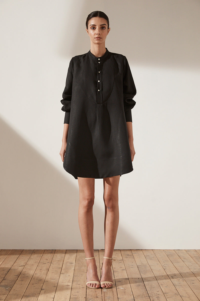 Aria Shirt Dress Black Dresses Shona Joy