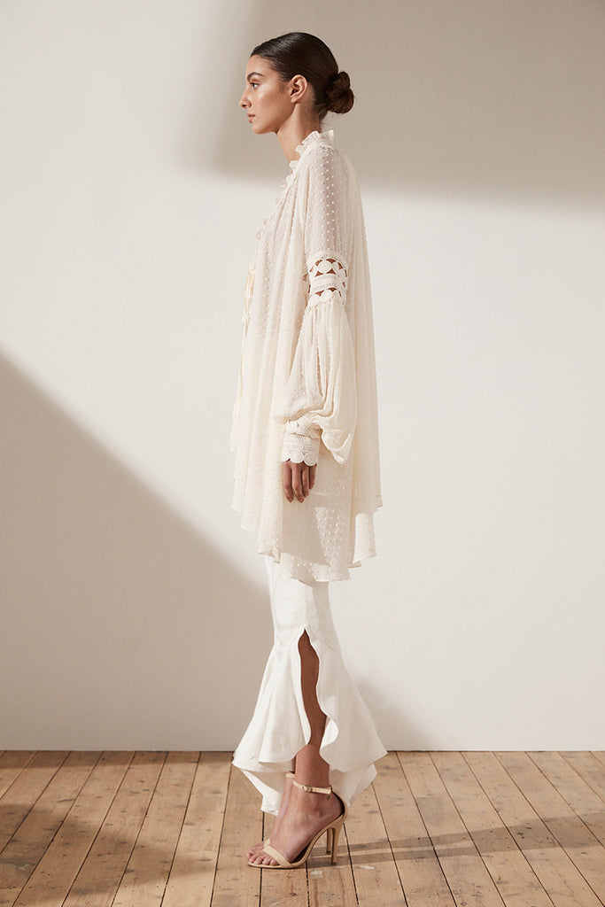 STELLA OVERSIZED BLOUSE - CREAM