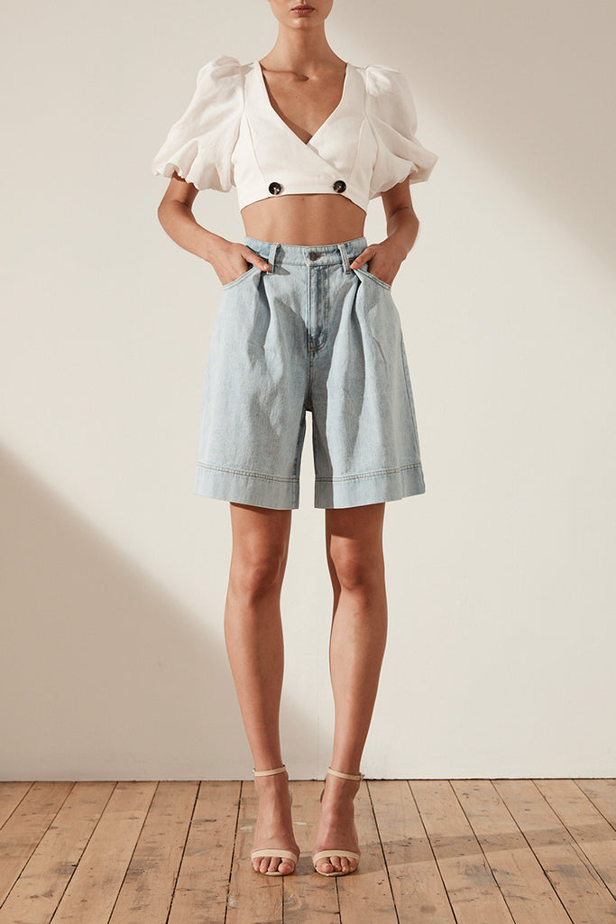 CORTONA BERMUDA SHORT - LIGHT BLUE STONE WASH