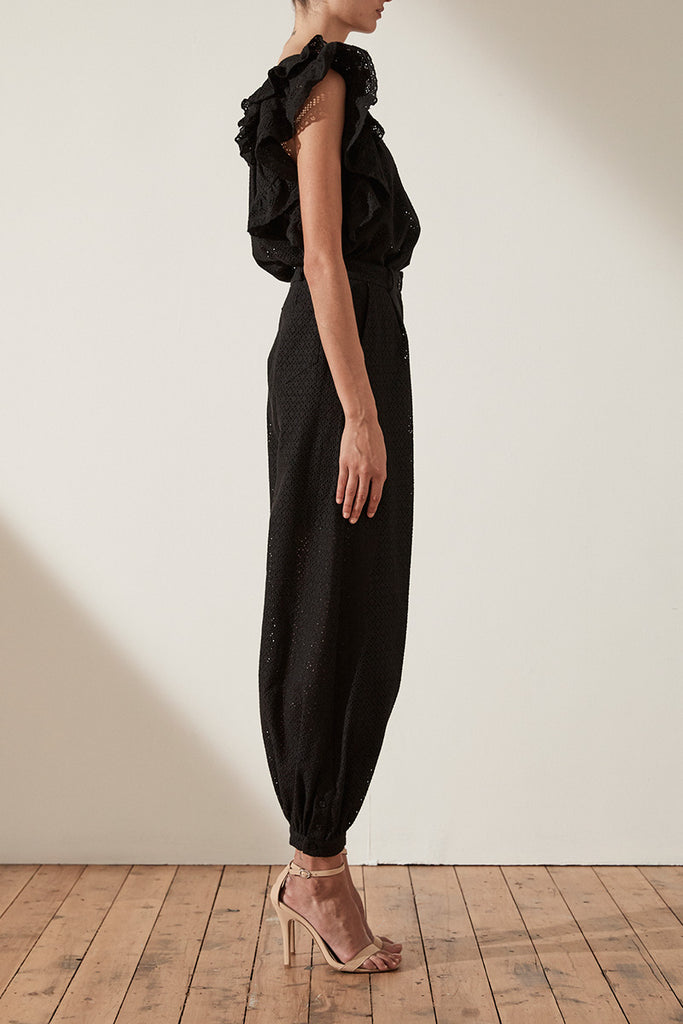 ACKLEY TAILORED HAREM PANT - BLACK