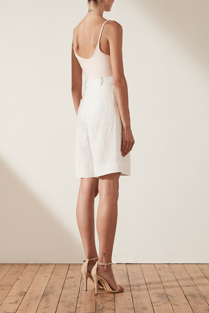 HOLDEN LINEN BERMUDA SHORT - GOLD LUREX