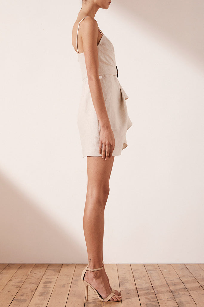 ALUARO DRAPED MINI DRESS