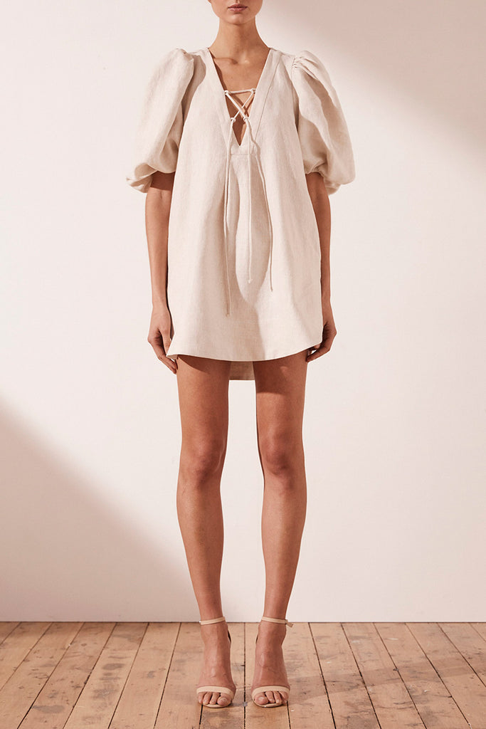 ALUARO PUFF SLEEVE MINI DRESS