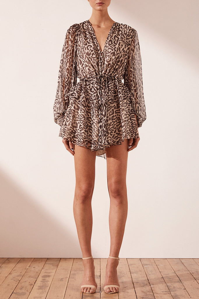 MARIPOSA DRAWSTRING MINI DRESS