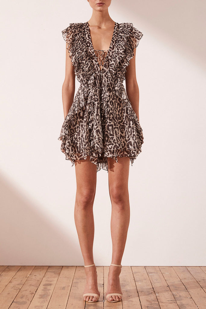 MARIPOSA RUFFLE MINI DRESS