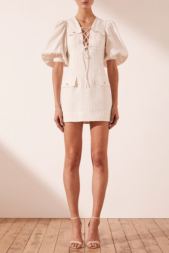 ISADORA LINEN SAFARI MINI DRESS