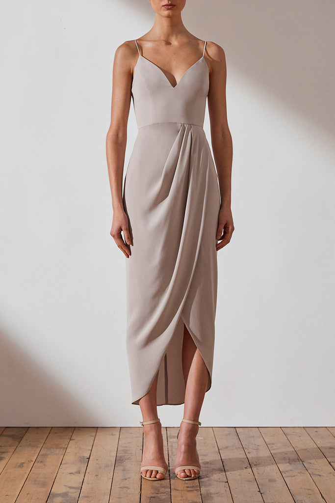 CORE COCKTAIL DRESS - OYSTER