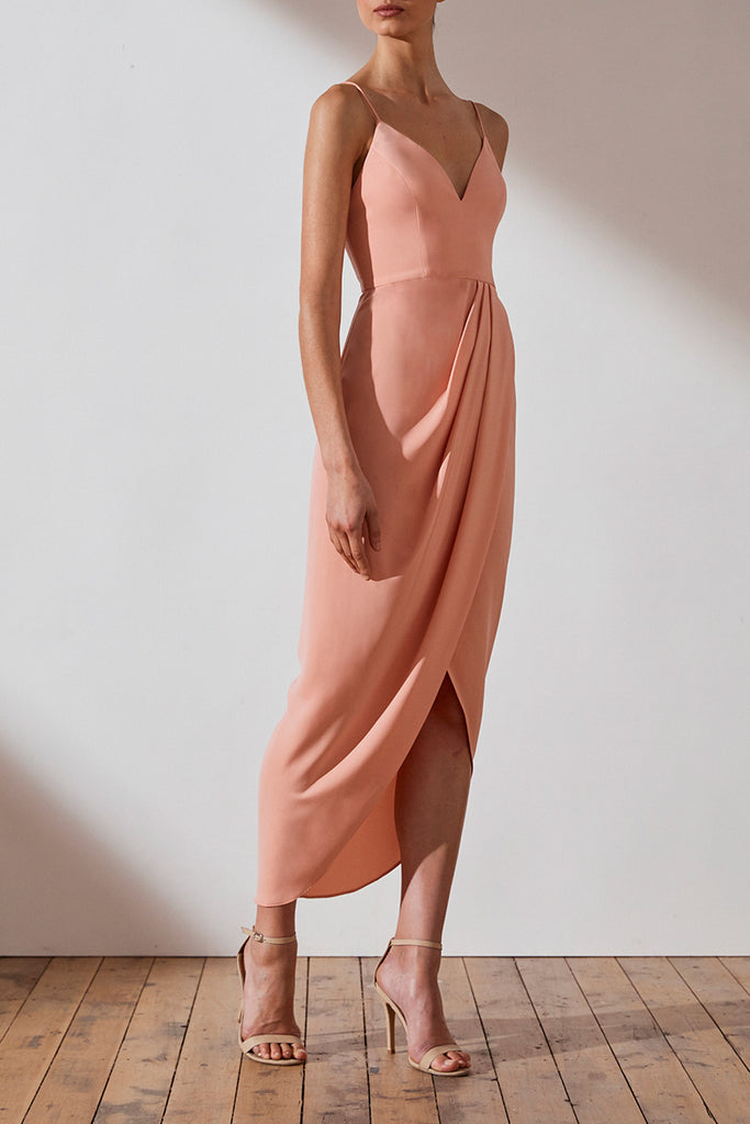 CORE COCKTAIL DRESS - DUSTY PINK