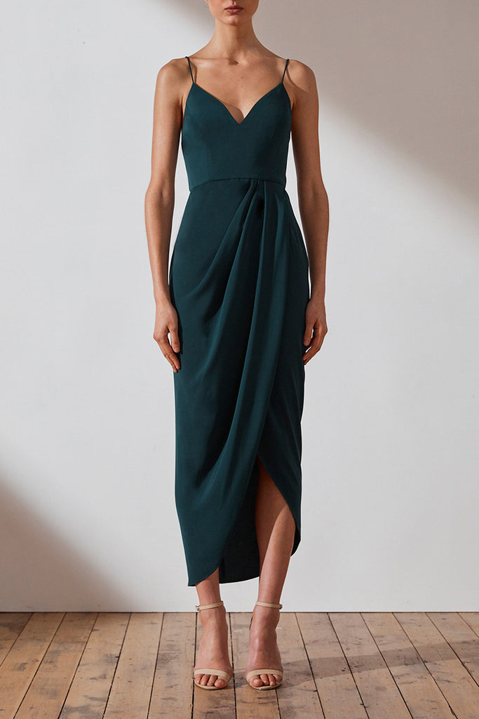 CORE COCKTAIL DRESS - SEAWEED