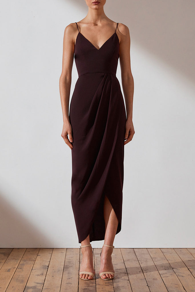 CORE COCKTAIL DRESS - AUBERGINE