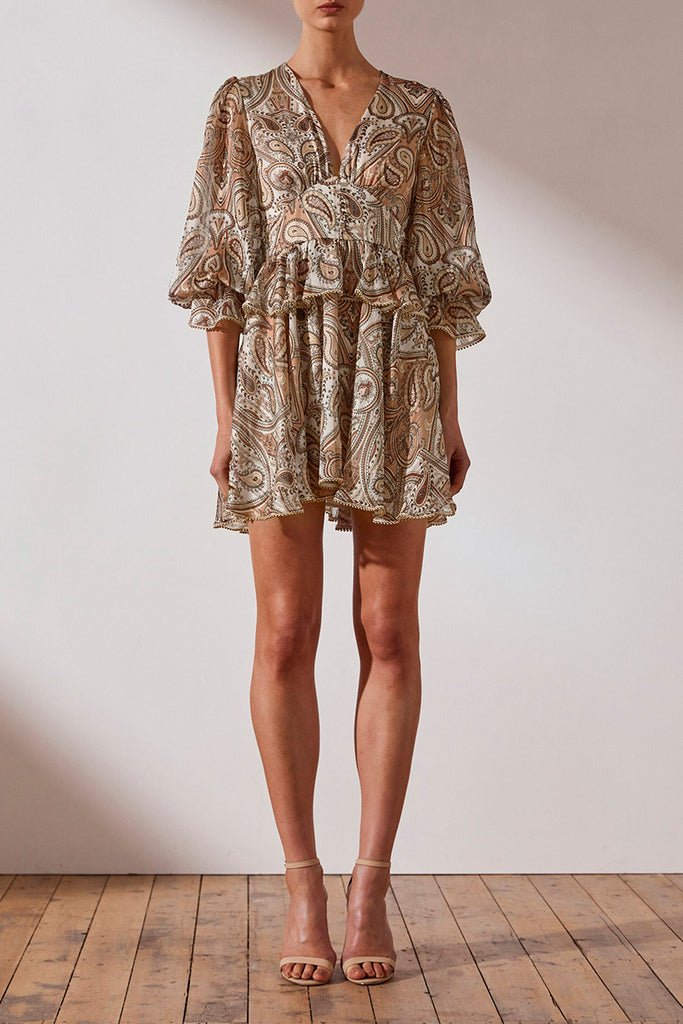 PALLENBERG PLUNGED MINI DRESS