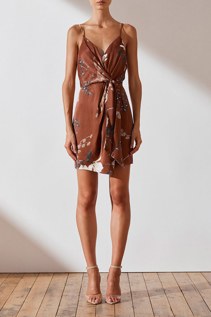 ST LUCIA TIE FRONT MINI DRESS