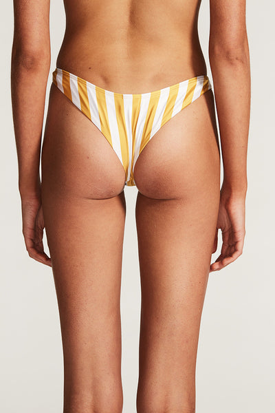 BAHAMAS SUPER HIGH CUT BOTTOM - ANTIQUE GOLD STRIPE