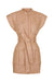 EAMES LINEN UTILITY MINI DRESS - DESERT ROSE