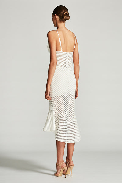 PEGASUS COCKTAIL MIDI DRESS - IVORY