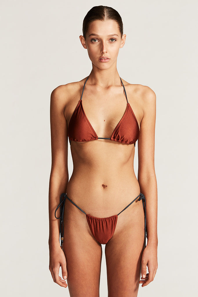 CANNES TRIANGLE BIKINI TOP - RUST