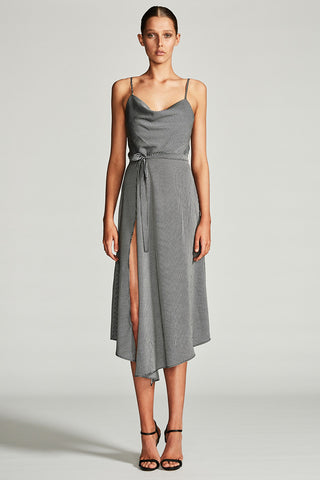 MIRAGE COWL COCKTAIL DRESS