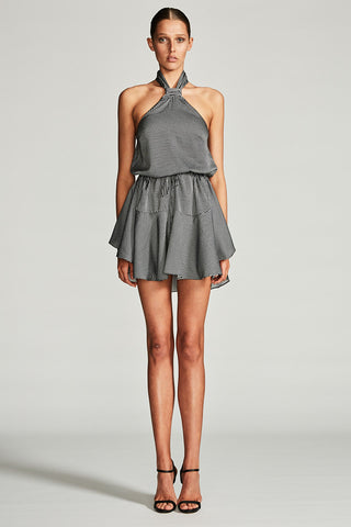 MIRAGE KNOT DRAWSTRING MINI DRESS