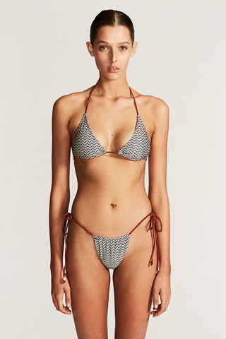 CANNES TRIANGLE BIKINI TOP - CHEVRON